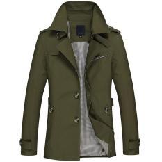 100% Cotton Men Jacket 2018 Spring Autumn Winter New Pattern Man Coat Men's Wear Buttons Asia Size Khaki Black Green Man Jackets