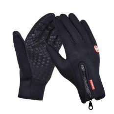 Găng tay nam mùa đông phủ hạt nhự chống trơn cảm ứng điện thoại lót lông cực ấm – mẫu HOT (màu đen)