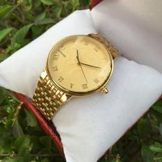 Đồng hồ nam Baishuns B029 mặt họa tiết rồng dây xích kim loại mạ vàng