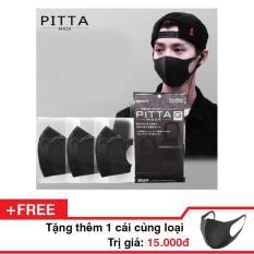 Túi 3 cái Khẩu trang lọc khuẩn Pitta ! Tặng thêm 1 cái cùng loại !