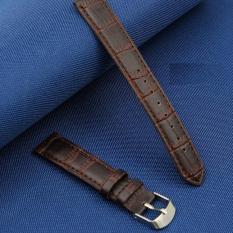 Dây da đồng hồ nam size 18mm (dây màu nâu)