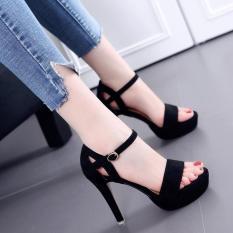 Giày cao gót đế đúp quai ngang