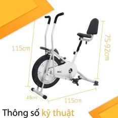 BG – Xe đạp tập thể dục Air bike có tay cảm ứng và tựa lưng siêu việt