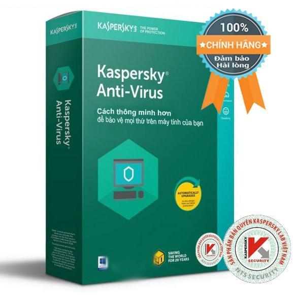 Nên mua Phần mềm diệt virus máy tính Kaspersky Anti-Virus 1PC box (bản quyền 1 năm) ở PT Net