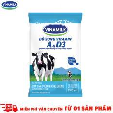 Thùng 48 Bịch Sữa tiệt trùng Vinamilk không đường 220ml