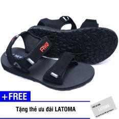 Giày Sandal nam chất liệu xốp thời trang cao cấp Latoma TA1401 (Đen)+ Tặng kèm thẻ ưu đãi Latoma