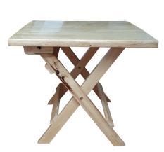 Bàn cafe mini mặt liền chân xếp gọn cao 45cm bằng gỗ