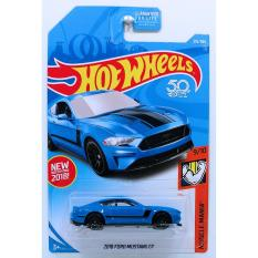Ô tô mô hình tỉ lệ 1:64 Hot Wheels 2018 Ford Mustang GT 216/365 ( màu Xanh )