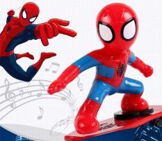 Đồ chơi người nhện trượt ván phát nhạc cho bé – BAO0346 – (SALE)