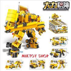 Đồ chơi xếp hình Lego Robot biến hình Transformers chất liệu cao cấp – Bộ 5 hộp sản phẩm với 847 mảnh ghép – Giúp trẻ thoả sức sáng tạo ý tưởng với đầy đủ mảnh ghép.