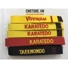 Đai Màu Tập Võ Taekwondo-Aikido-Karatedo-Judo-Vovinam Giá Rẻ
