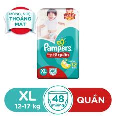 Tã Quần Pampers size XL 48 miếng (12-17kg)