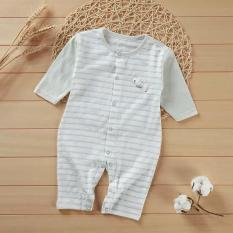 Bộ body cotton tre đính họa tiết cá cho trẻ 0-12 tháng tuổi