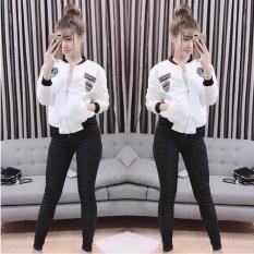 Áo Khoác Bomber Nữ Phối Hình Huy Hiệu Trẻ Trung Năng Động Fashion Glamour WM JK 800008