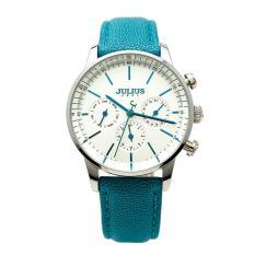 Sale off đồng hồ nữ Julius Hàn Quốc JA-862A dây da (Xanh thiên thanh)
