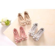 giày búp bê kim tuyến 3 màu nơ đính đá