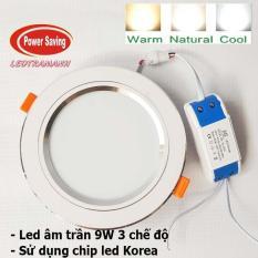 Đèn led âm trần 9w 3 chế độ giá tốt