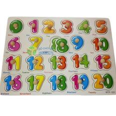 Đồ Chơi Bảng Ghép Hình Núm Gỗ – Chủ đề: Số đếm 0-20. Đồ chơi thông minh cho trẻ em học đếm.