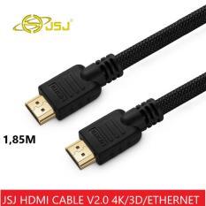 Dây cáp HDMI JSJ chuẩn 2.0 hỗ trợ 3D/4K/Ultra HD/Ethernet dài 1,85M