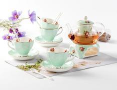 Bộ bình trà bếp nến cao cấp