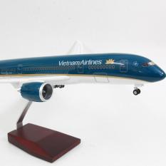 Mô hình máy bay B787 Vietnam Airlines (47cm) có đèn LED Everfly