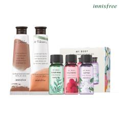 Bộ dưỡng da tay hương Tangerine Farm innisfree Jeju Life Perfumed Hand Cream 30ml + hương Autumn Leaves innisfree Jeju Life Perfumed Hand Cream 30ml + Bộ sữa tắm My Body Cleanser Trial Kit 3 món