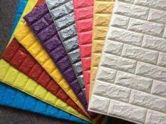Tấm Xốp Dán Tường Cách Âm Chống Nhiệt Vân Gạch 3D MÀU TRẮNG
