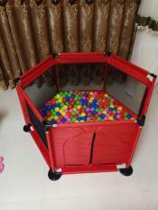 Nhà bóng khung kim loại cỡ lớn tặng kèm 20 bóng (đỏ) – (BQ339-DO)