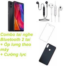 Xiaomi Mi 8SE 64GB Ram 6GB (Đen) + Cường lực 5D Full màn hình + Ốp lưng + Tai nghe Bluetooth 2 tai – Hàng nhập khẩu
