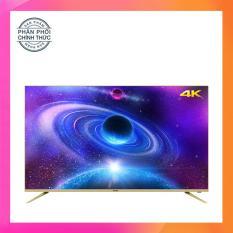 Giá Smart Tivi Led Asanzo 55 inch Ultra HD 4K – Model 55AU7900, 55AU8000 (Viền Vàng Nhạt) Tích hợp DVB-T2, Wifi Tại Điện Máy Hải Đăng