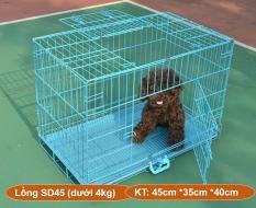 Chuồng nuôi chó mèo (Hanpet SD) CÓ 4 SIZE – lồng nuôi chó mèo – chuồng chó – lồng chó gấp gọn sơn tĩnh điện (nhiều màu) chuồng lồng thú cưng / lồng thú cưng