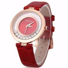 đồng hồ nữ guou dây da đá chạy xinh xắn đáng yêu
