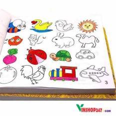 Bộ sách tô màu cho bé 5000 hình tặng kèm 12 cây bút màu