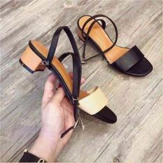 Sandal gót vuông 3p/ 3cm quai ngang hàng Việt form nhỏ