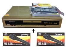 Đầu DVD Karaoke Arirang AR-36MD (vàng) + 2 micro có dây Arirang 3.6B
