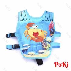 Phao bơi trẻ em, áo phao bơi CUA (Bé từ 2 – 10 tuổi), chất liệu tiêu chuẩn EU cao cấp – POKI