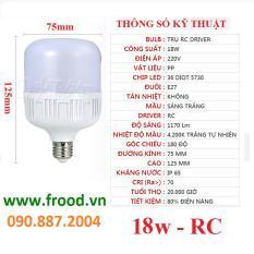 Bóng đèn LED tiết kiệm 18w