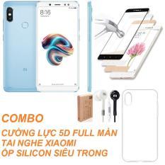 Nên mua Xiaomi Redmi Note 5 Pro 64GB Ram 4GB (Xanh) + Ốp lưng + Cường lực 5D Full màn + Tai nghe Mi – Hàng nhập khẩu ở Shop Online 24 (Hà Nội)