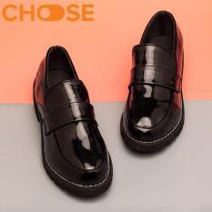 Giày Boot Lười/ Giày Oxford Nữ Độn Đế Gót Cao 3.5CM Shoping Picnic Công Sở Phong Cách Hàn Quốc 1103