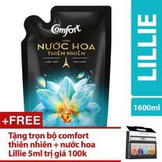 Nước hoa thiên nhiên Comfort LILLIE Túi 1.6L + Tặng trọn bộ comfort thiên nhiên và nước hoa Lillie 5ml trị giá 100k