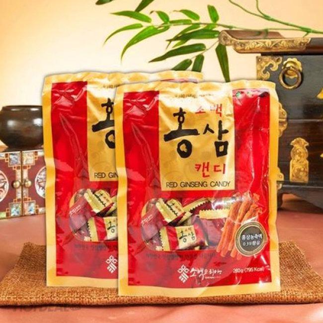 Combo 2 gói Kẹo hồng sâm Hàn Quốc Sobaek Korea 200gr