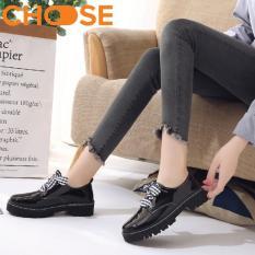 Dày OXFORD Nữ/Giày Boots Đẹp Dây Caro Bản To Phong Cách Mùa Đông Năm Nay 2311