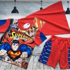 Quần áo bé trai in hình người hùng Superman gắn đèn cảm ứng