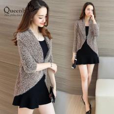 Áo khoác len nữ đẹp vai bầu tay lỡ Queenbe GLA047