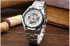 Đồng hồ nam thời trang dây thép không gỉ Winner Q01 máy cơ Automatic