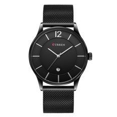Đồng hồ nam Curren 8231 dây đen mặt đen