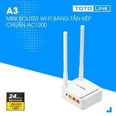 Mini Router Wi-Fi băng tần kép chuẩn AC1200 – A3 – TOTOLINK