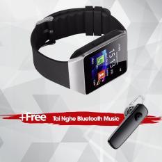 Đồng hồ thông minh gắn sim SmartWatch UWATCH XCI 09 (Bạc) – Hàng nhập khẩu + Tặng kèm tai nghe bluetooth