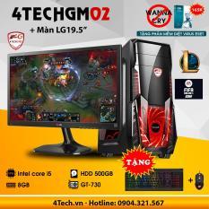 Máy tính chơi Game 4TechGM02 core i5, ram 8GB, hdd 500gb, vga GT730, màn hình LG 19.5inch(chuyên LOL, Stream) – Tặng Phím Chuột Game DareU.
