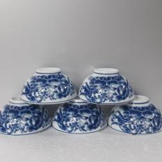 Bộ 6 bát ăn cơm Bát Tràng- Hoa sen